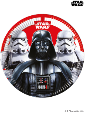 8 Star Wars Theme Paper Party Plates